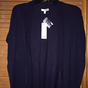 Sonoma Women's Navy Short Sleeve Cardigan